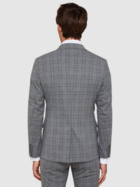 AUDEN ECO CHECKED SUIT JACKET GREY