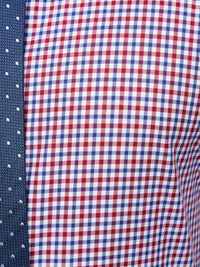 ISLINGTON CHECKED SHIRT RED/NAVY