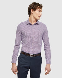 BECKTON HOUNDSTOOTH SHIRT RED