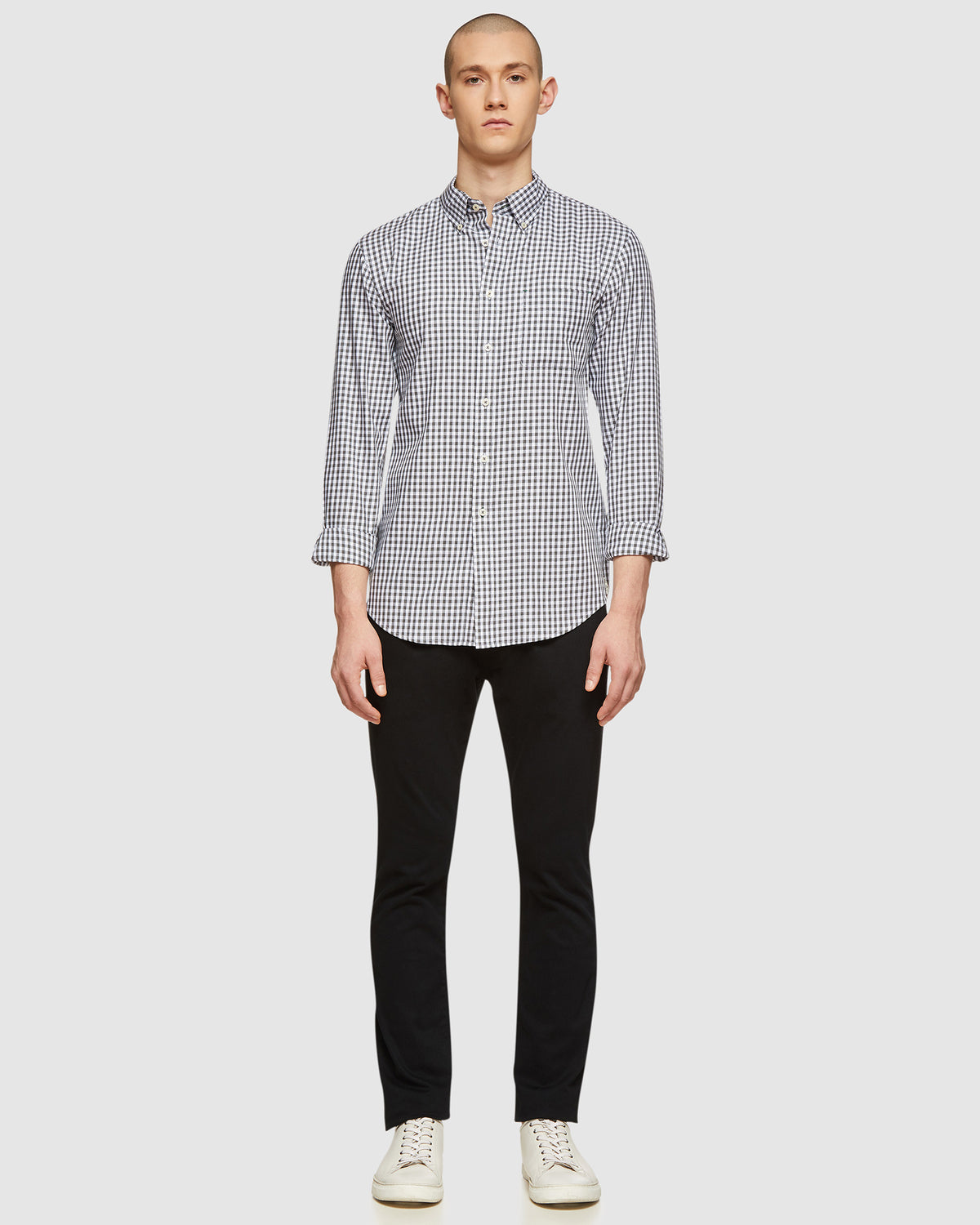 UXBRIDGE CHECKED SHIRT GREY