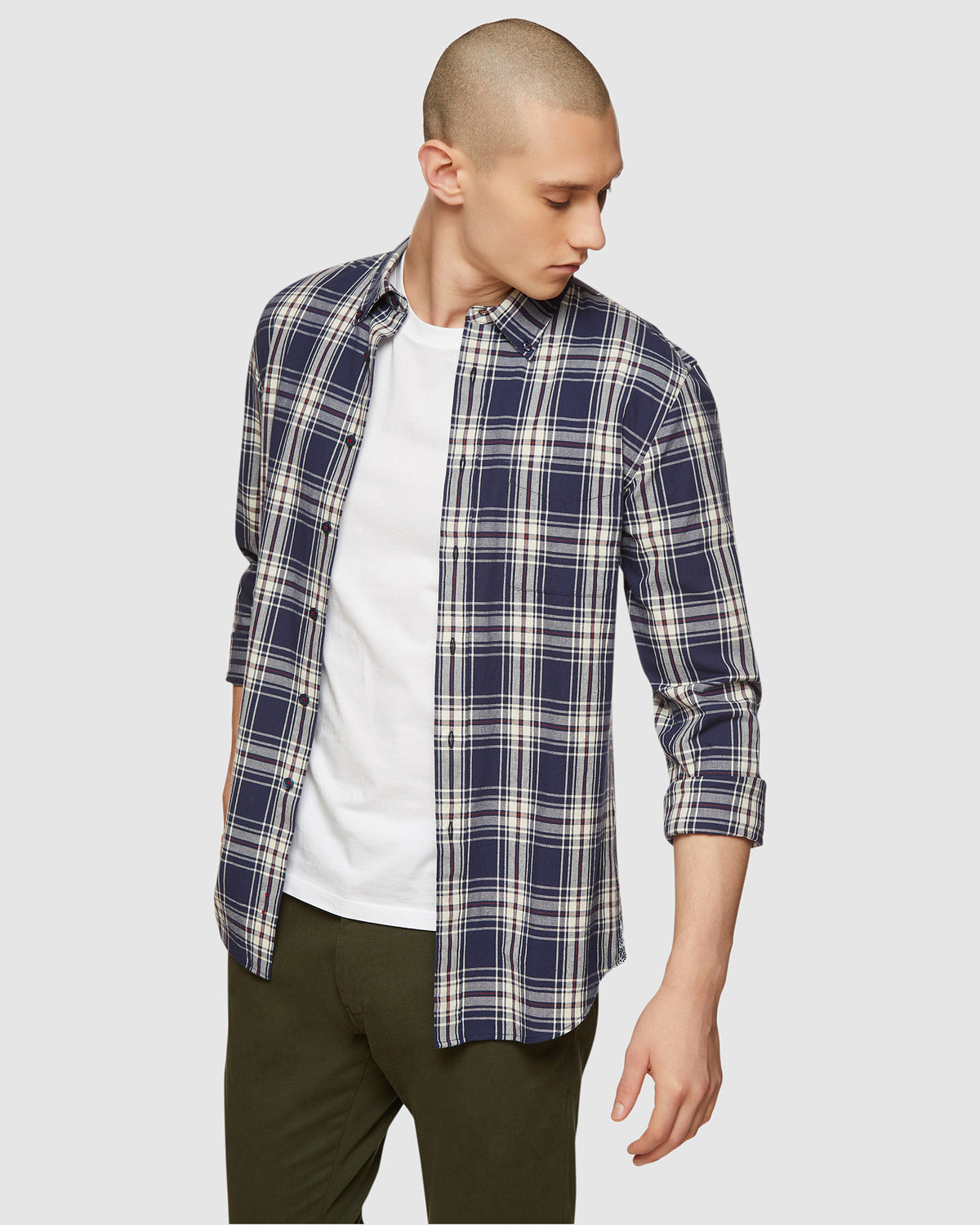 UXBRIDGE CHECKED SHIRT NAVY