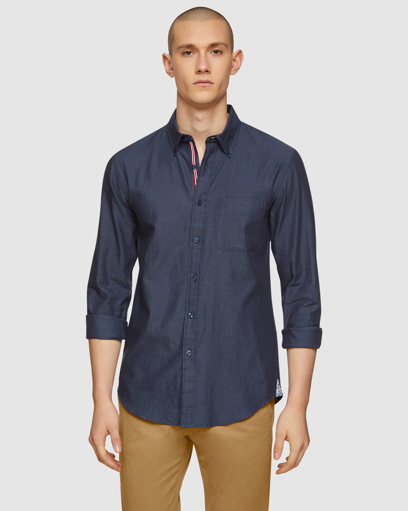 UXBRIDGE TWILL CASUAL SHIRT NAVY