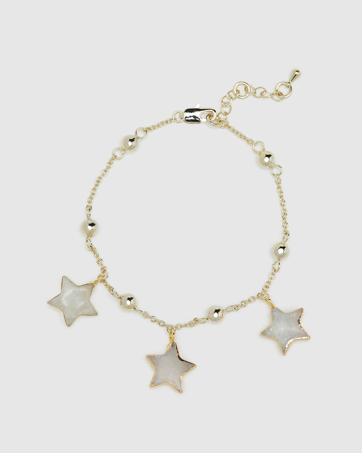 EZRI MOONSTONE STAR BRACELET GOLD/MOONSTONE