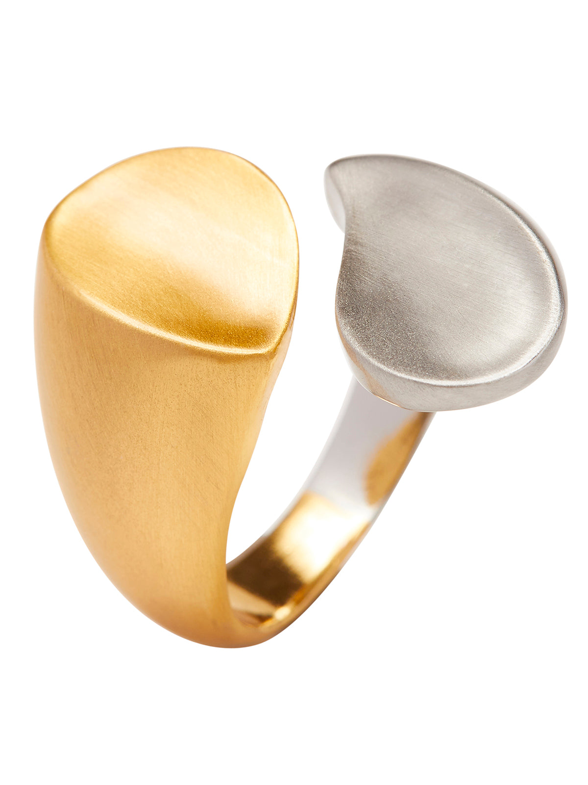 ALLIE RING MATTE SILVER/MATTE GOLD