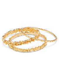 MONIK BANGLES BRUSHED GOLD