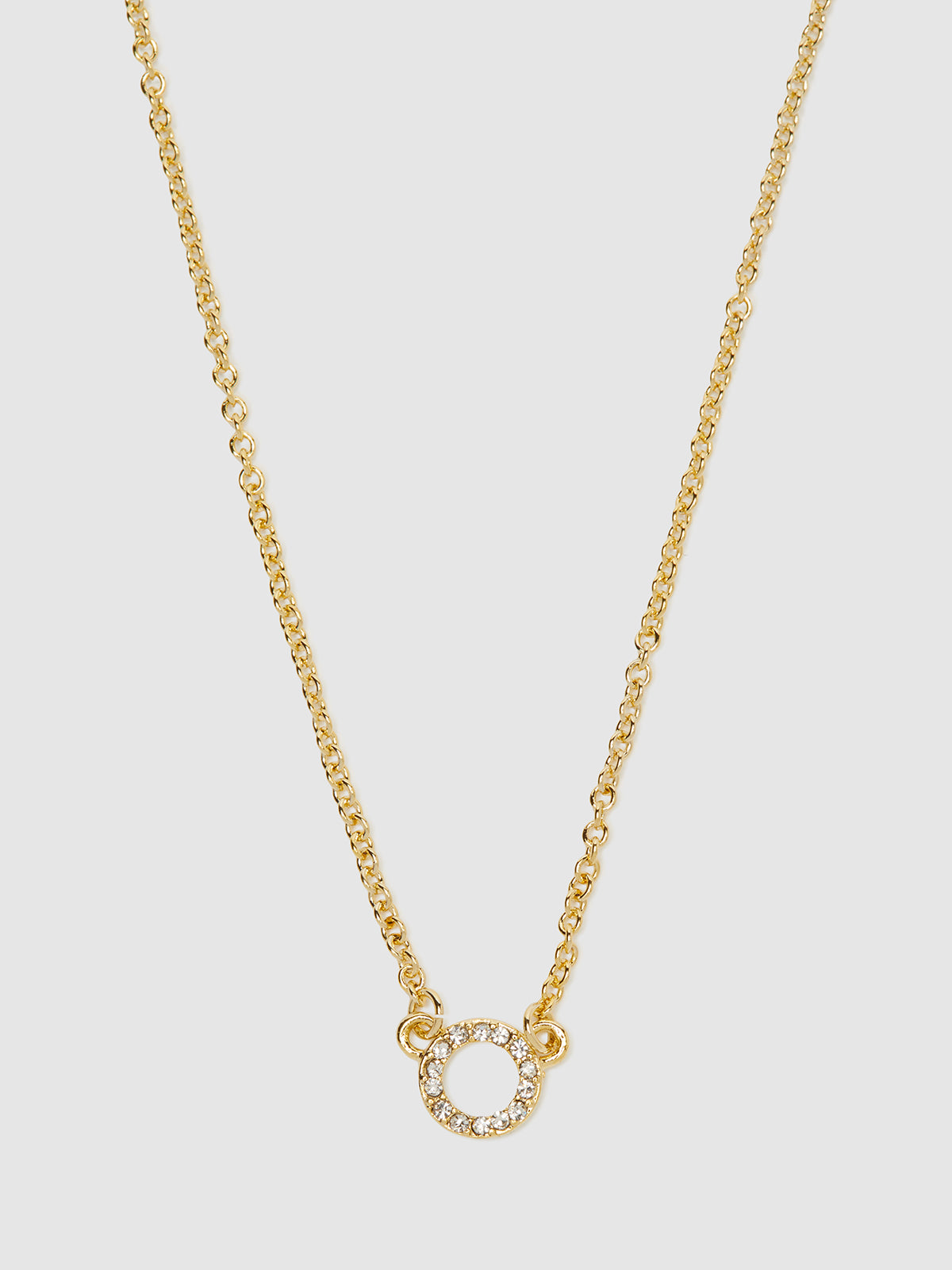 SAOIRSE DIAMONTE CIRCLE NECKLACE PALE GOLD