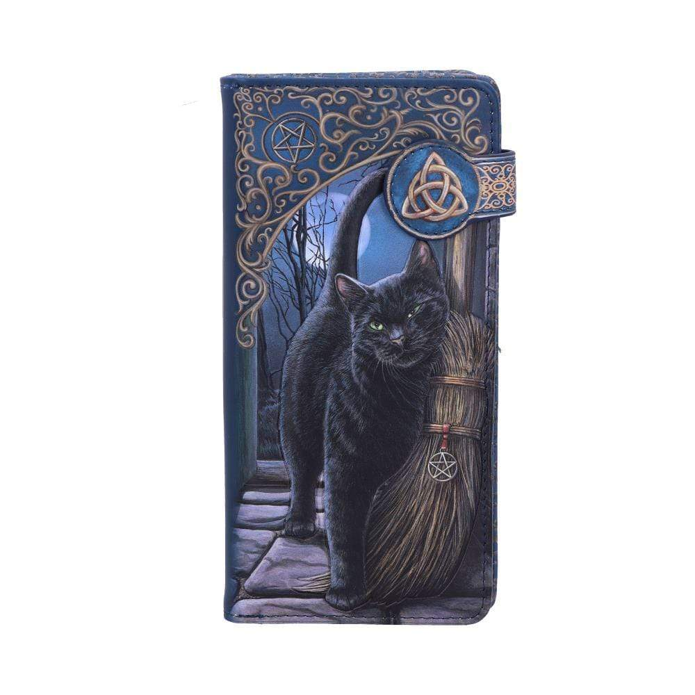 Nemesis Now A Brush With Magick Embossed Purse (Lp) 18.5cm Cat Purse