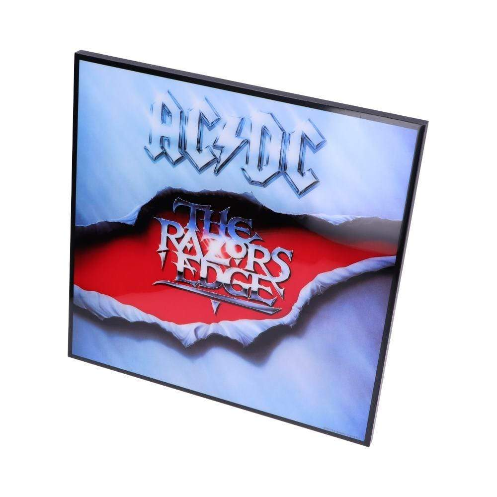 Nemesis Now Acdc The Razors Edge Crystal Clear Pic 32cm Band Merch Crystal Clear Picture