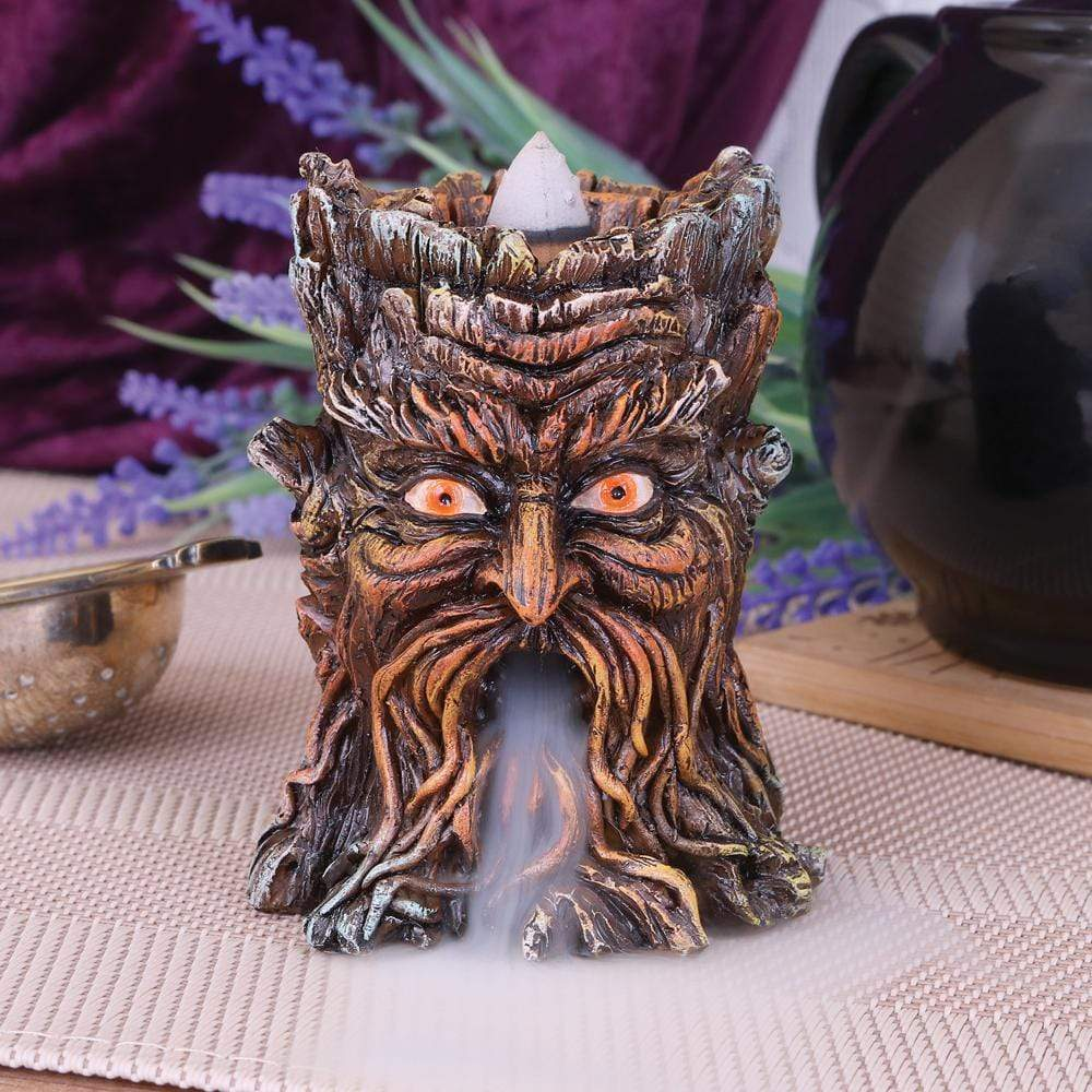 Aged Oak Backflow Incense Burner 8.5cm Tree Incense Burner