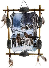 Load image into Gallery viewer, Nemesis Now Alphas Alliance 60cm Wolves Dreamcatcher