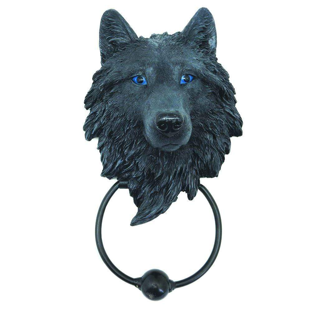 Dark Guardian Wolf 22.8cm Wolves Door Knocker