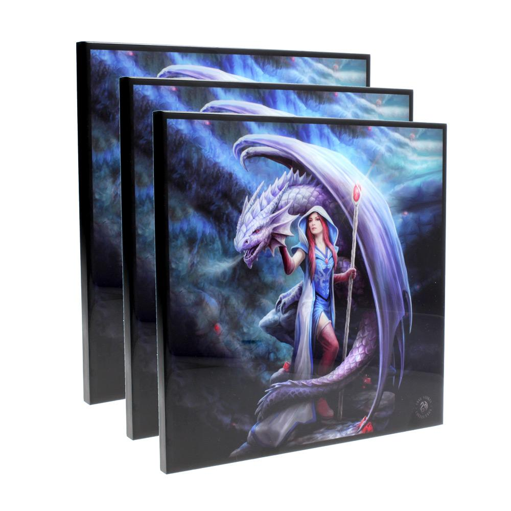 Nemesis Now Dragon Mage Crystal Clear Picture 40cm Set Of 3 Dragon Crystal Clear Picture