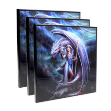 Load image into Gallery viewer, Nemesis Now Dragon Mage Crystal Clear Picture 40cm Set Of 3 Dragon Crystal Clear Picture