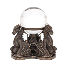 Load image into Gallery viewer, Nemesis Now Dragons Prophecy 18.5cm Dragon Crystal Ball/Ball Holder