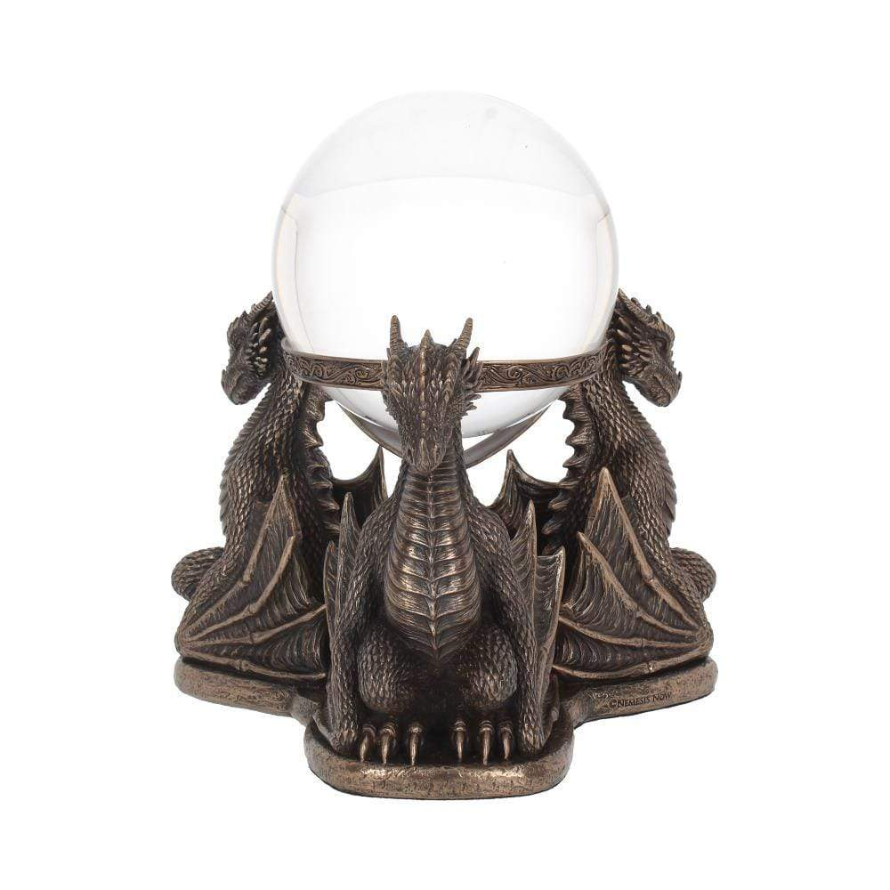 Nemesis Now Dragons Prophecy 18.5cm Dragon Crystal Ball/Ball Holder