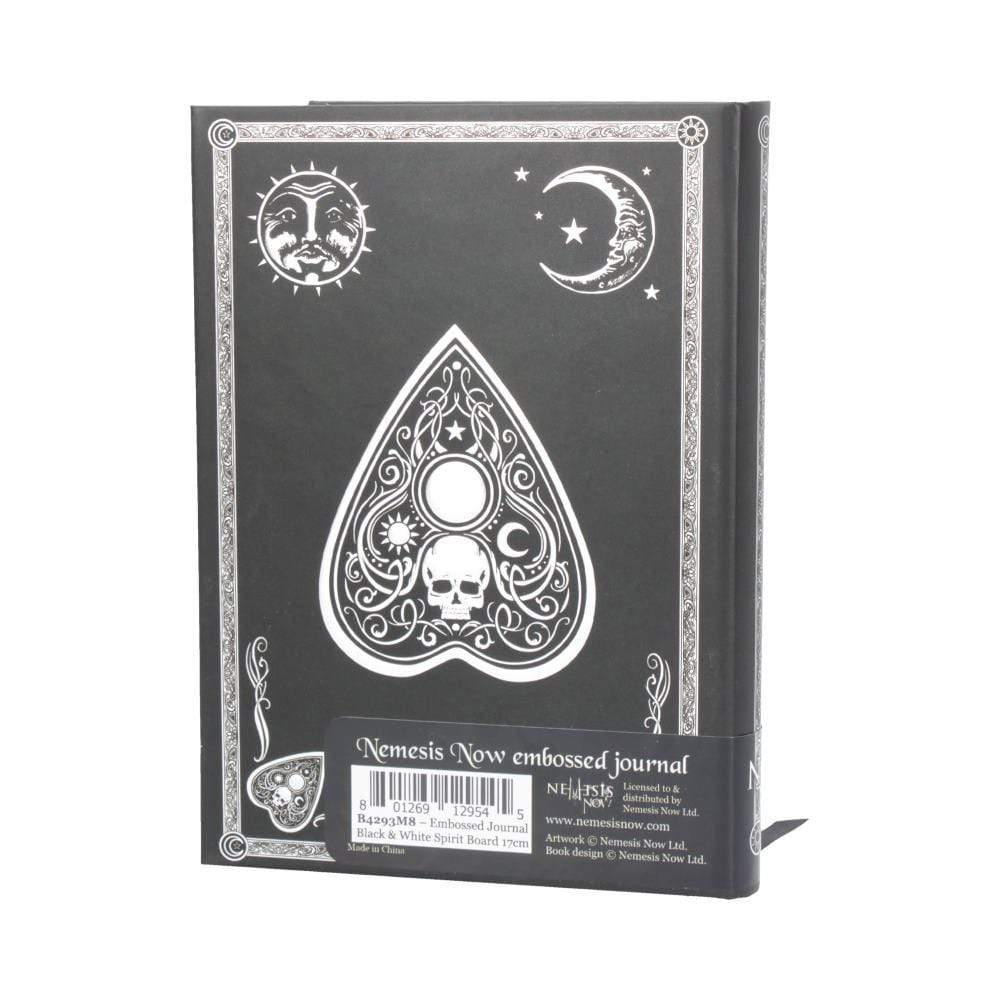Nemesis Now Embossed Journal Black And White Spirit Board 17cm Witchcraft & Wiccan Journal