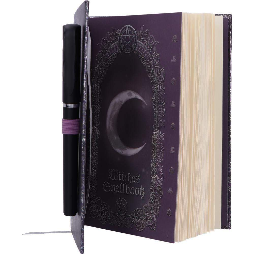 Nemesis Now Embossed Witches Spell Book A5 Journal With Pen P6 Cat Journal