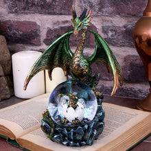 Load image into Gallery viewer, Emerald Oracle 19cm Dragon Snow Globe