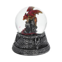 Load image into Gallery viewer, Enchanted Ruby Snowglobe 10cm Dragon Snowglobe
