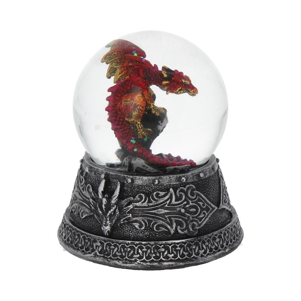 Enchanted Ruby Snowglobe 10cm Dragon Snowglobe
