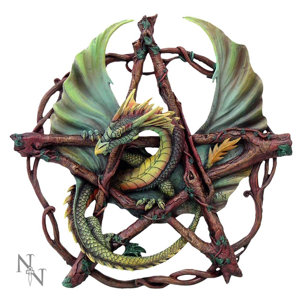 Nemesis Now Forest Pentagram Dragon 32.5cm Dragon Wall Hanger