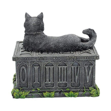 Load image into Gallery viewer, Nemesis Now Fortune's Watcher Tarot Box 17cm Cat Box