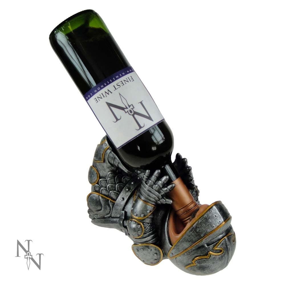 Nemesis Now Guzzlers Knight 23cm Medieval Wine Bottle Holder