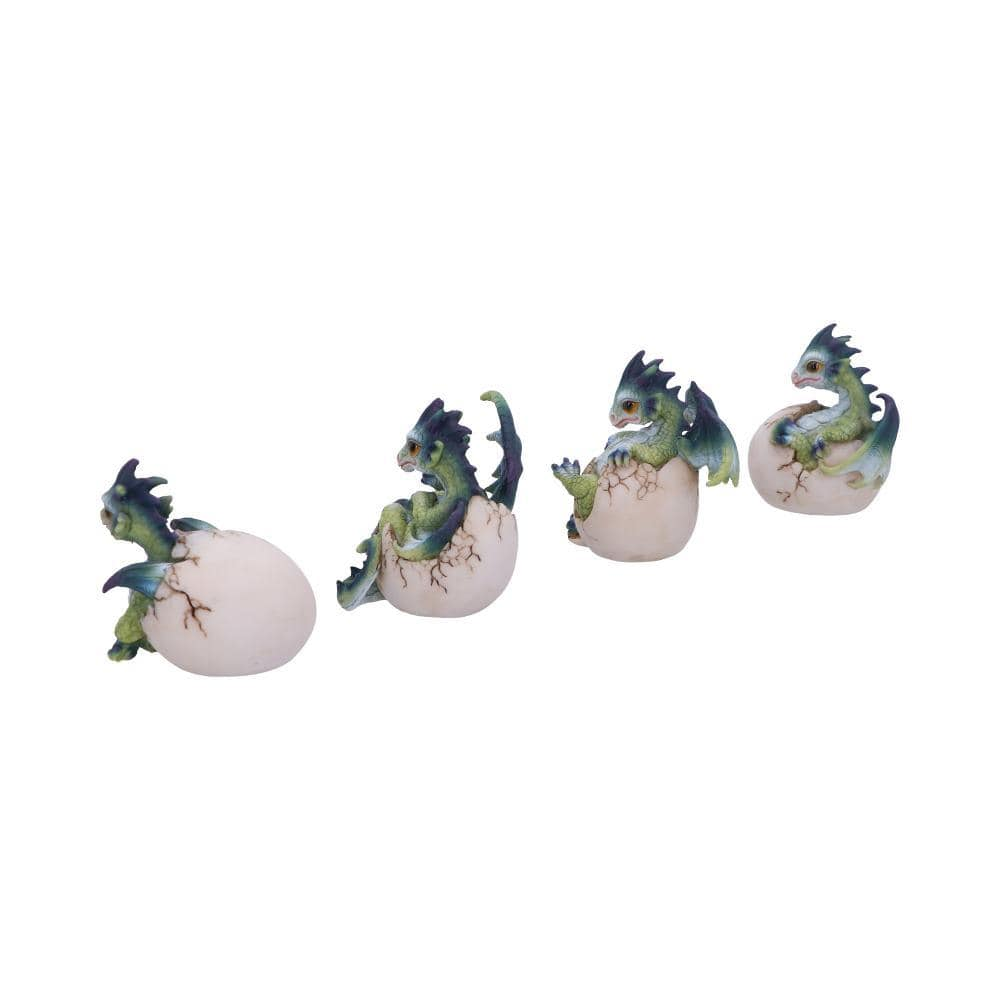 Hatchlings Emergence (Set Of 4) 8cm Dragon Figurine Small