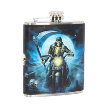 Load image into Gallery viewer, Nemesis Now Hell Rider Hip Flask (Jr) 7oz Bikers/Bikes Hipflask
