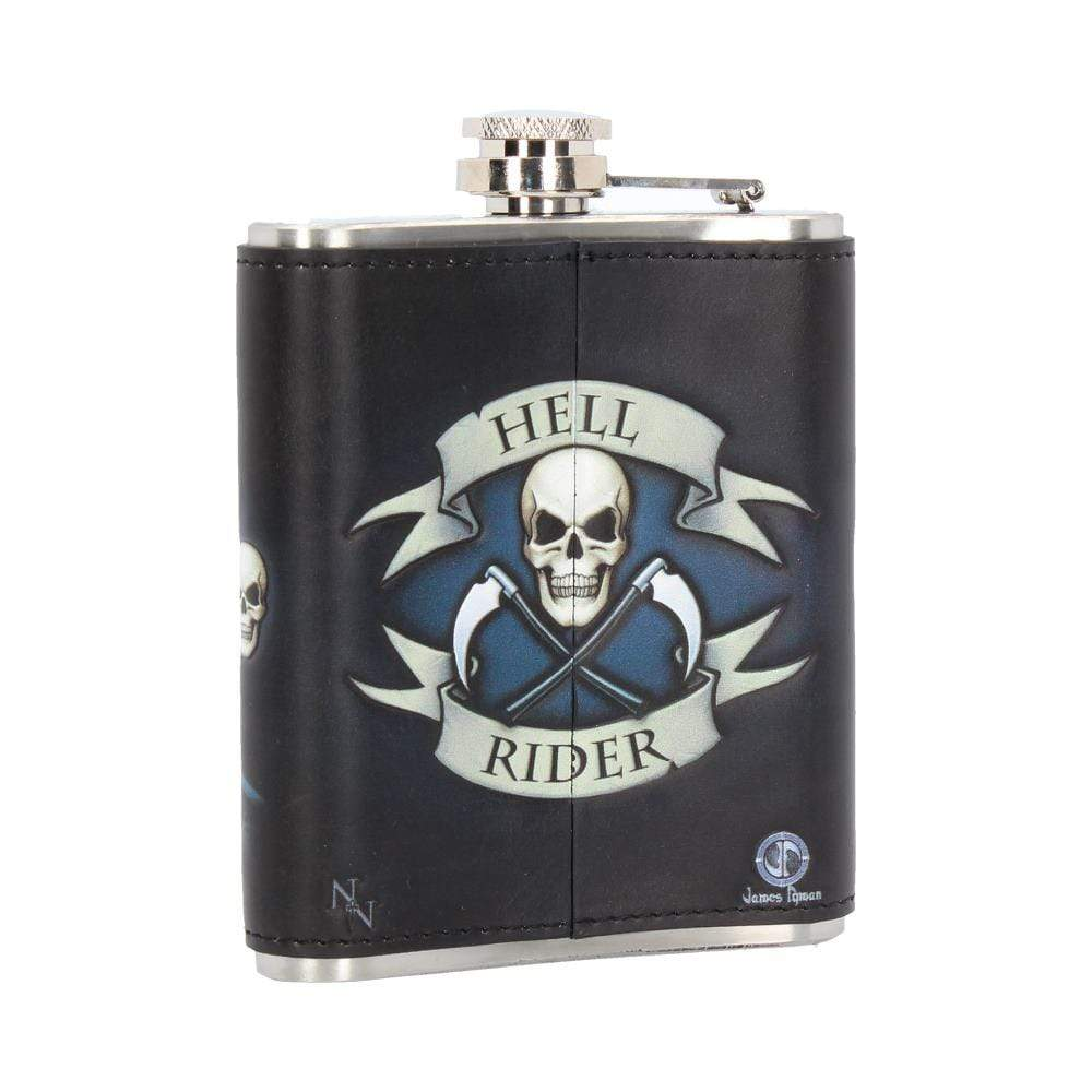 Nemesis Now Hell Rider Hip Flask (Jr) 7oz Bikers/Bikes Hipflask