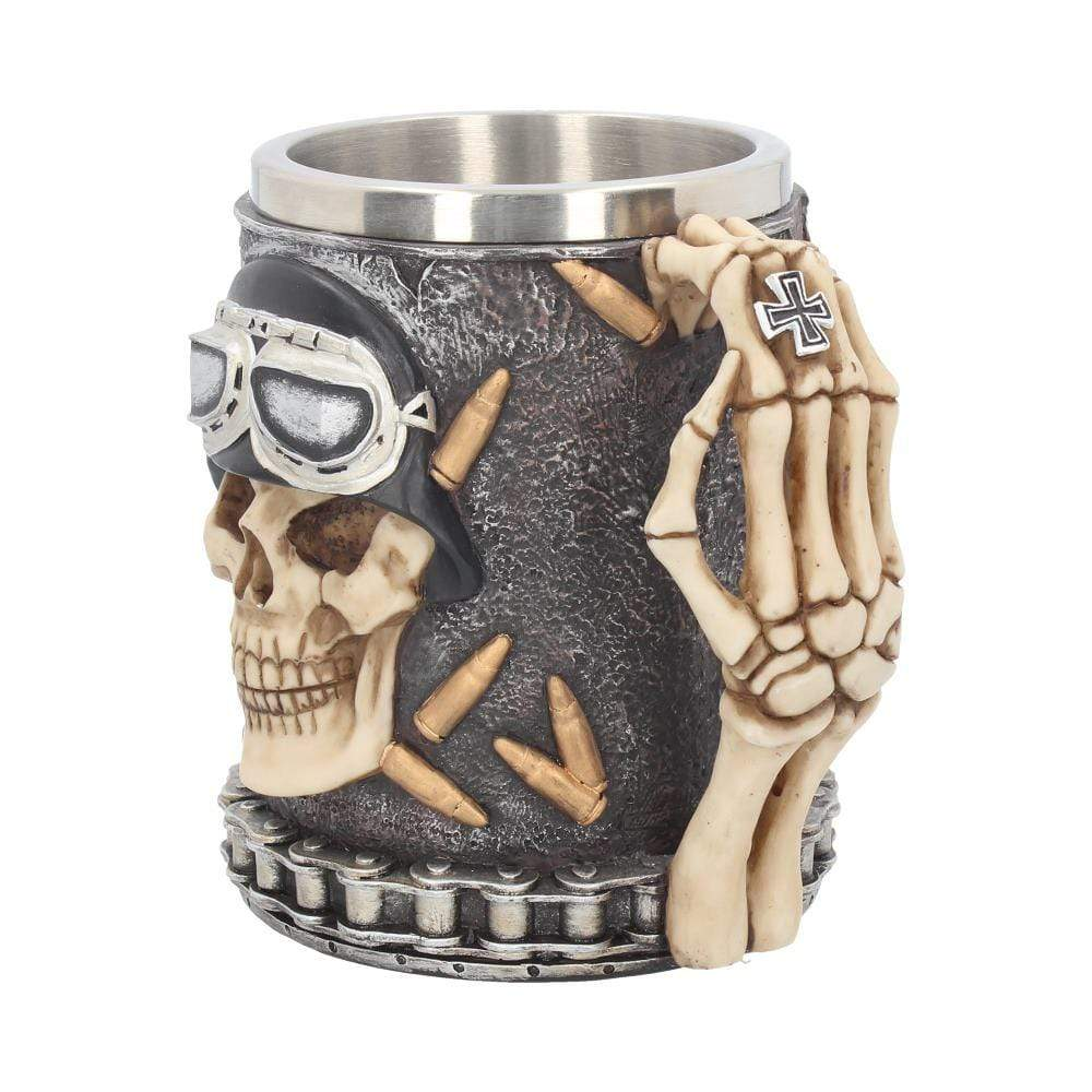 Nemesis Now Iron Cross Skull Tankard 14cm Skull Tankard