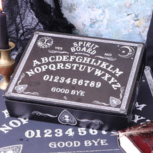 Load image into Gallery viewer, Jewellery Box Black And White Spirit Board 25cm Witchcraft & Wiccan Box