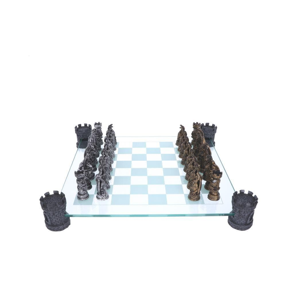 Nemesis Now Kingdom Of The Dragon Chess Set 43cm Dragon Chess Set