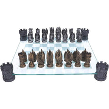 Load image into Gallery viewer, Nemesis Now Kingdom Of The Dragon Chess Set 43cm Dragon Chess Set