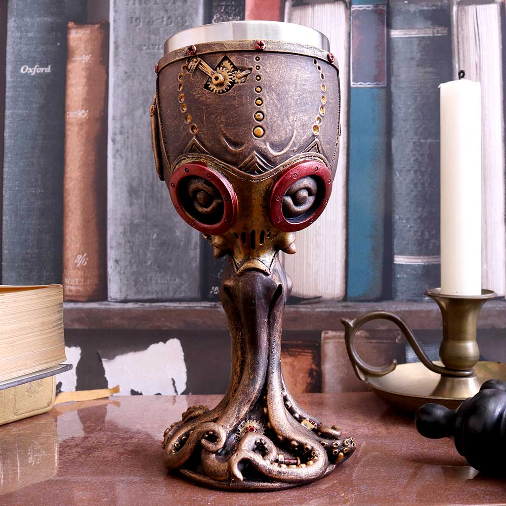 Mechanical Cephalopod Goblet 18.5cm Octopus Clock