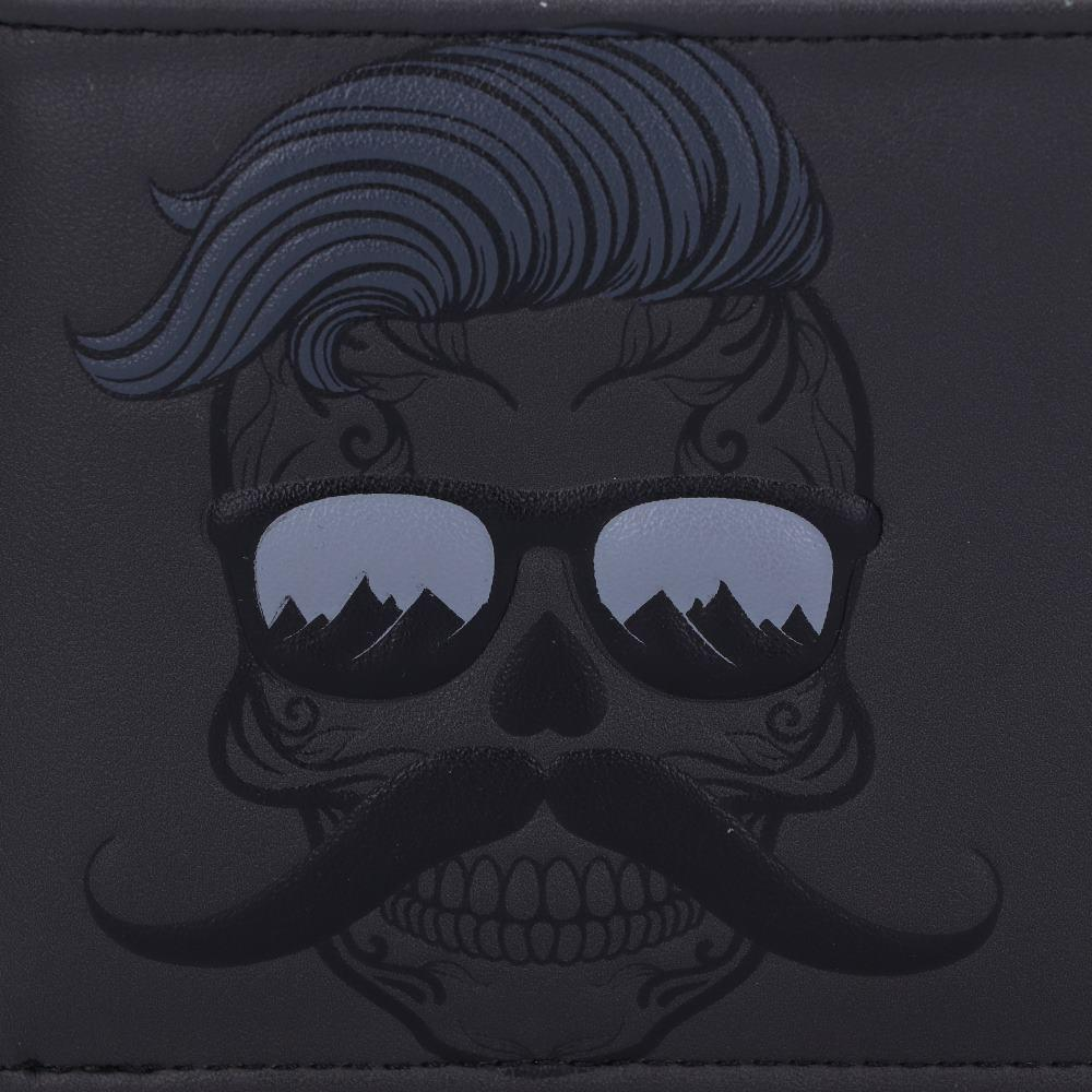Money Stache Wallet 11cm Skull Wallet