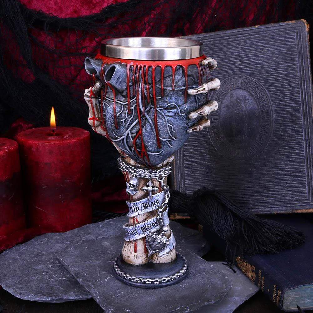 My Black Heart Bleeds Goblet 18cm Skeleton Goblet