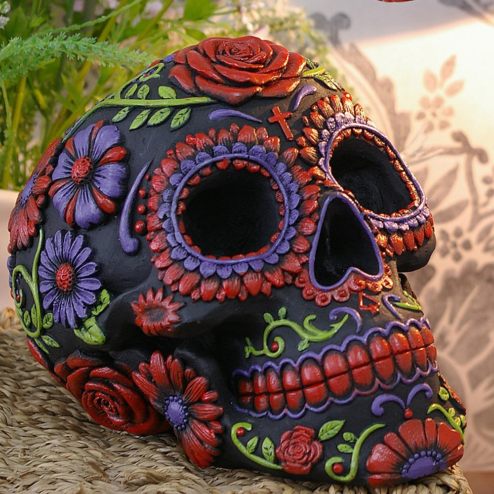 Night Blooms 38cm Skull Lighting