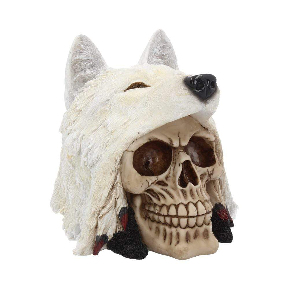 Night Wolf 15.6cm Skull Figurine Medium