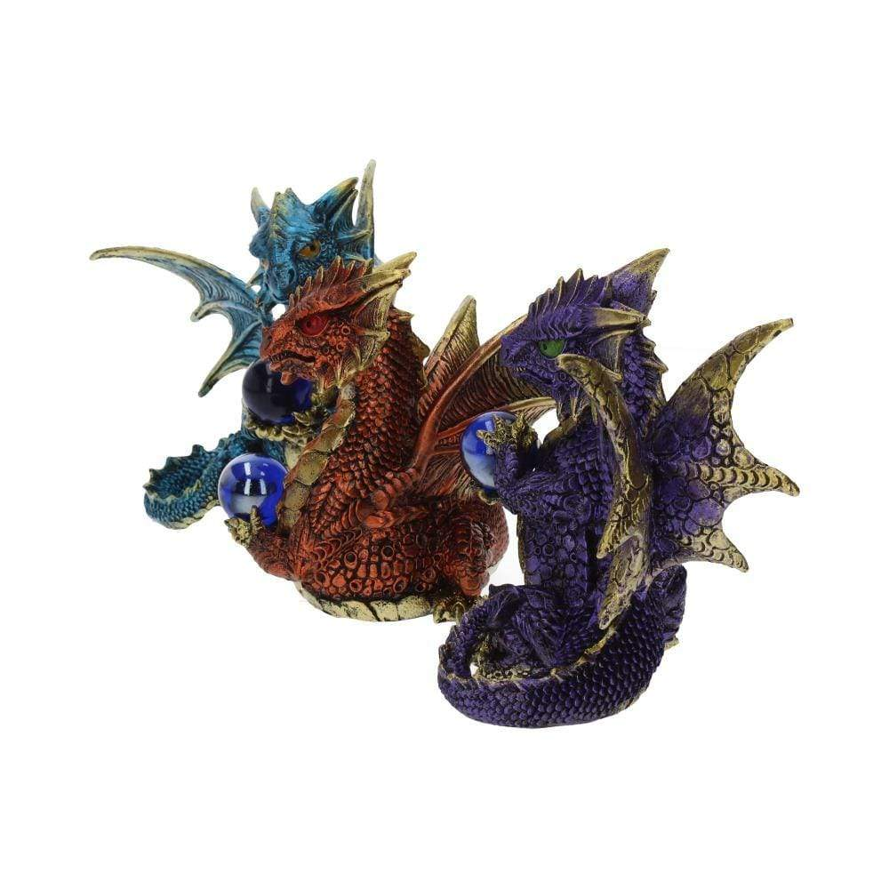 Orb Guardians (Set Of 3) Dragon Figurine Small
