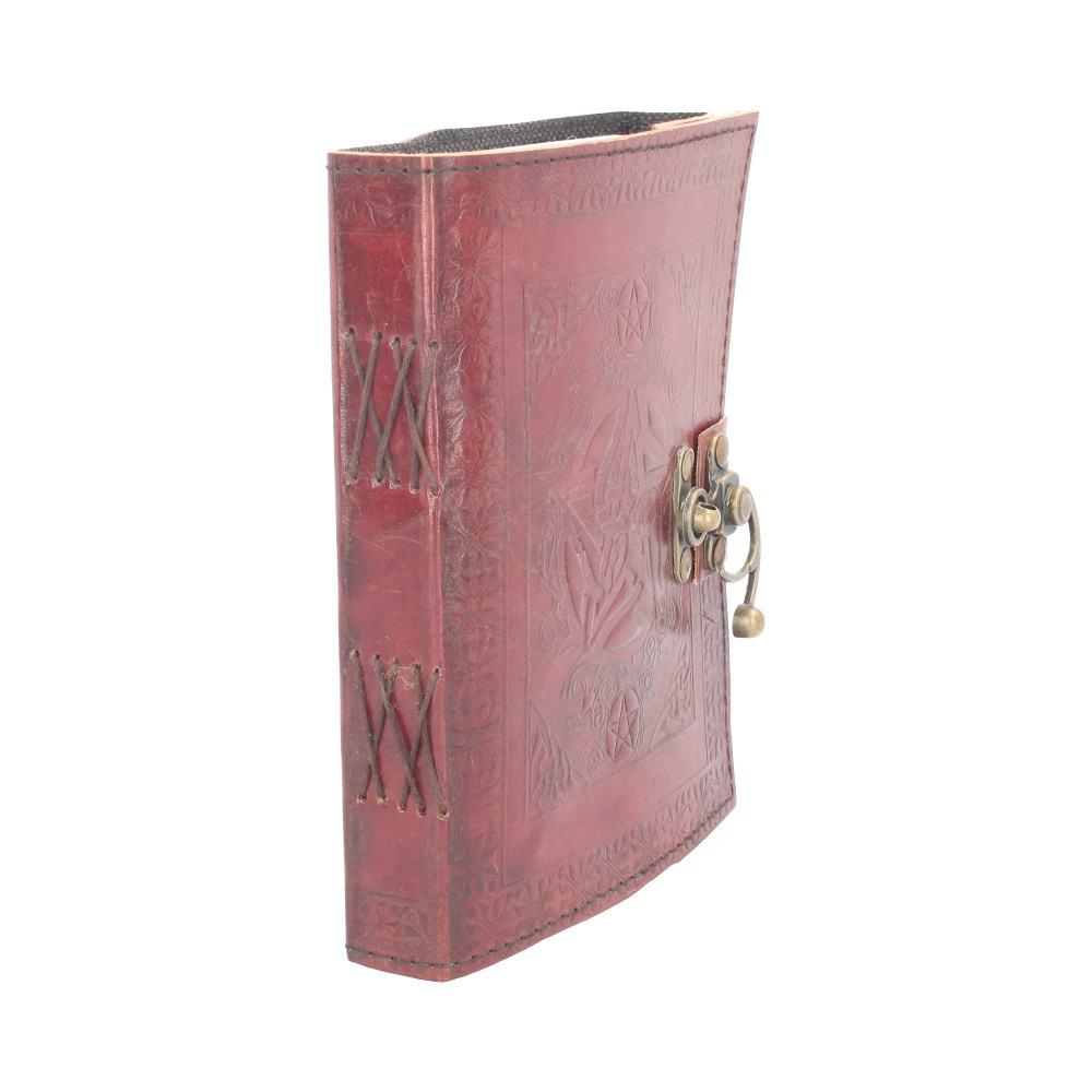 Pentagram Leather Journal W/Lock 15 X 21cm Witchcraft & Wiccan Journal (Leather)