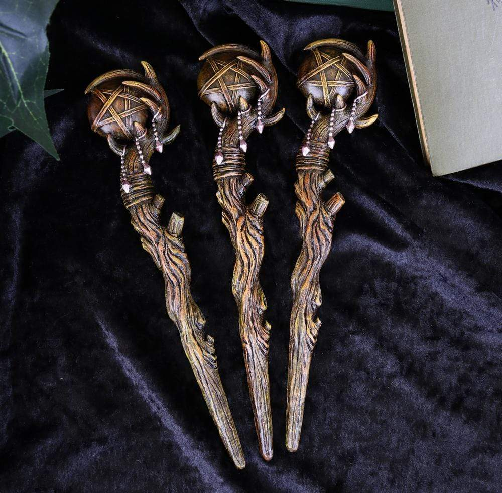 Pentagram Sceptre (Set Of 3) 23.6cm Witchcraft & Wiccan Wand