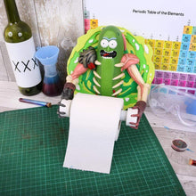 Load image into Gallery viewer, Pickle Rick Toilet Roll Holder 22.5cm Rick And Morty Toilet Roll Holder