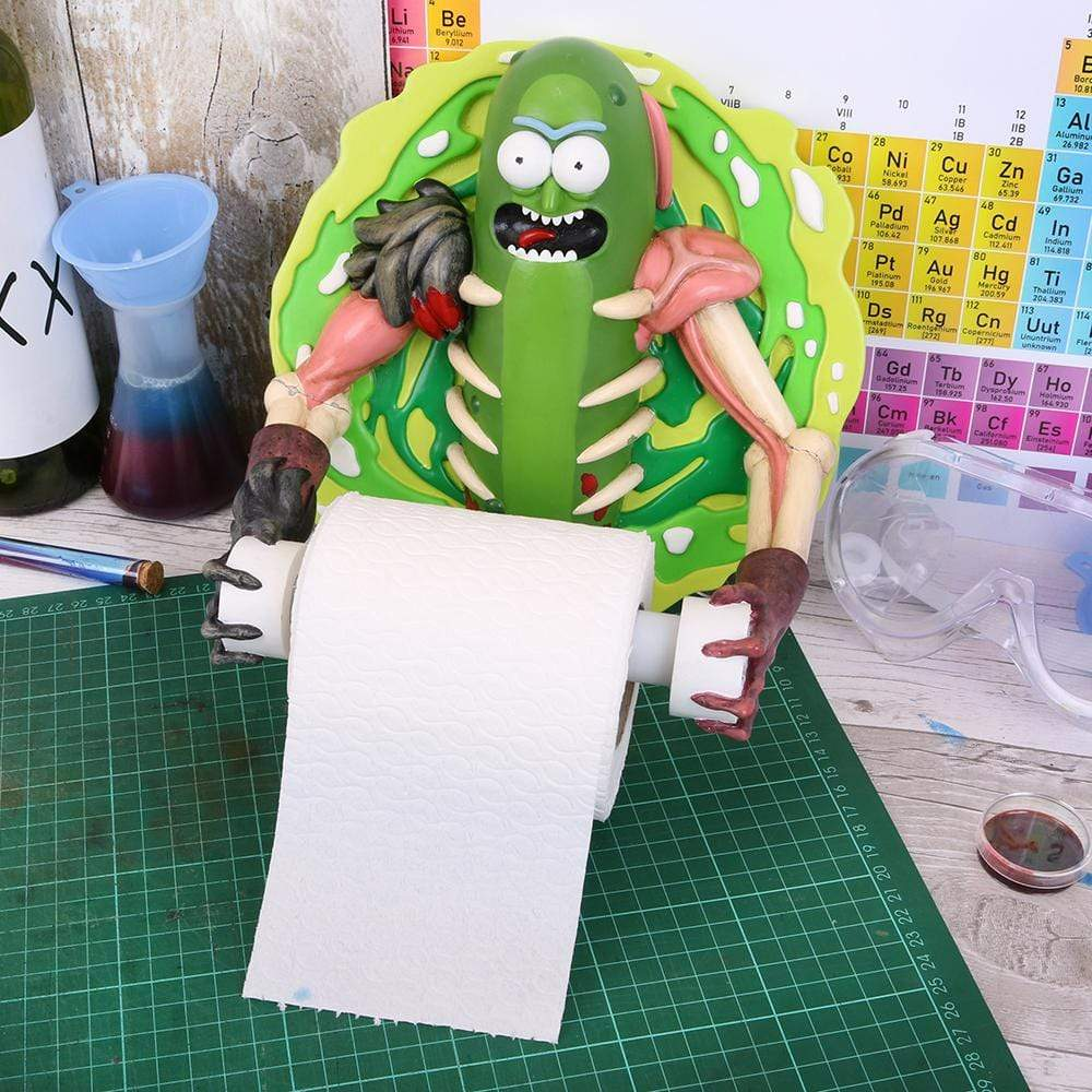 Pickle Rick Toilet Roll Holder 22.5cm Rick And Morty Toilet Roll Holder