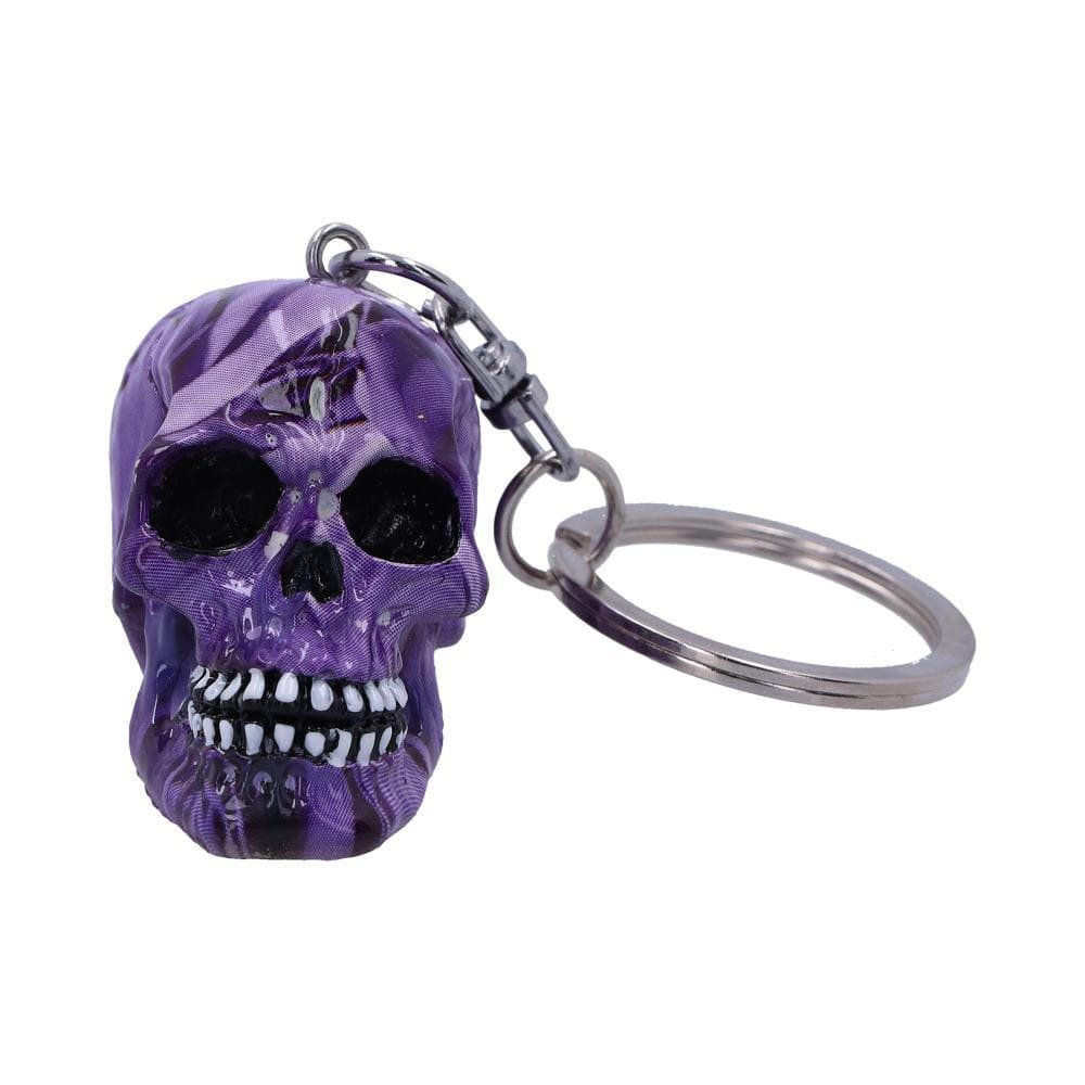 Purple Romance Keyrings (Set Of 6) 5cm Skull Keyring