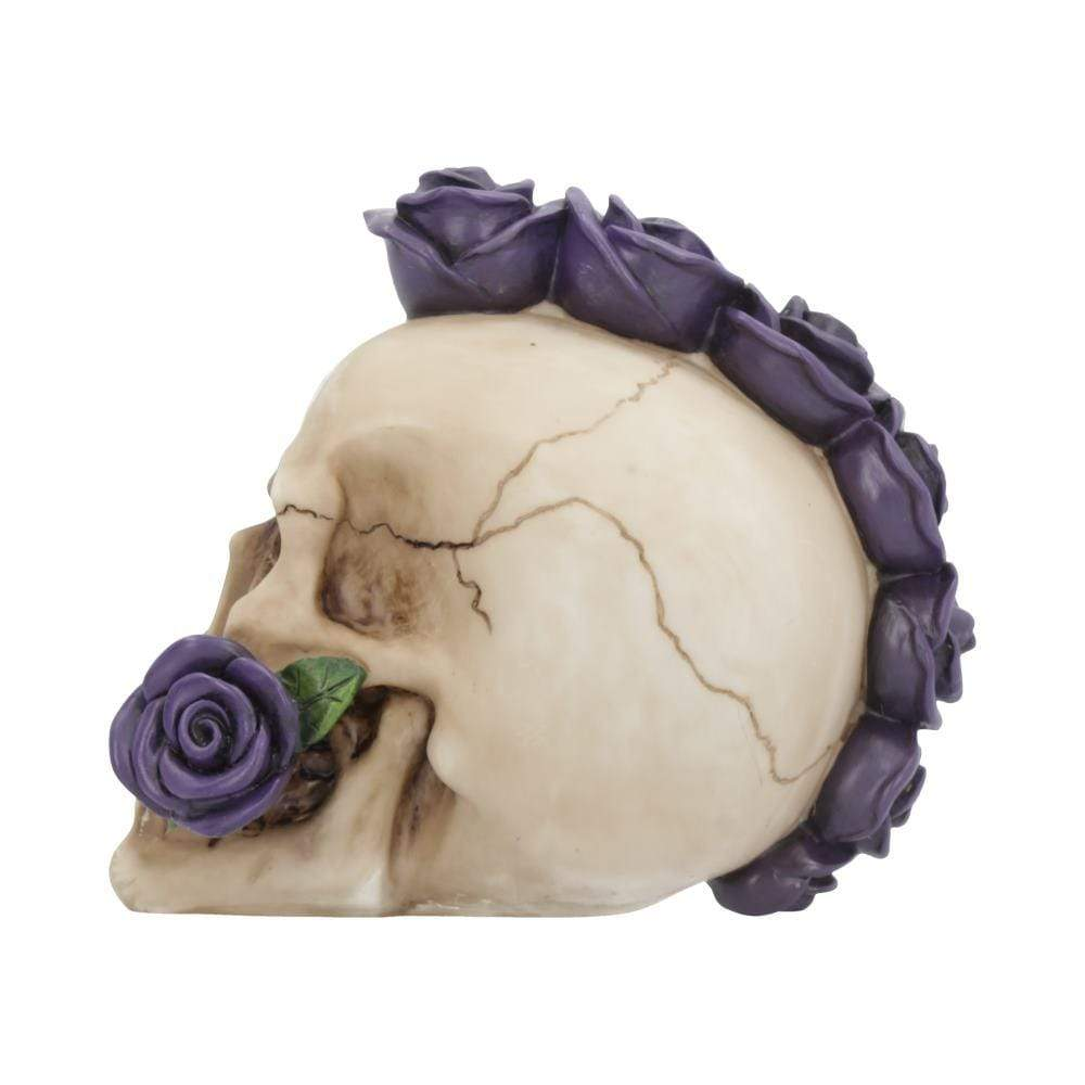 Purple Rosehawk 16cm Skull Figurine Medium