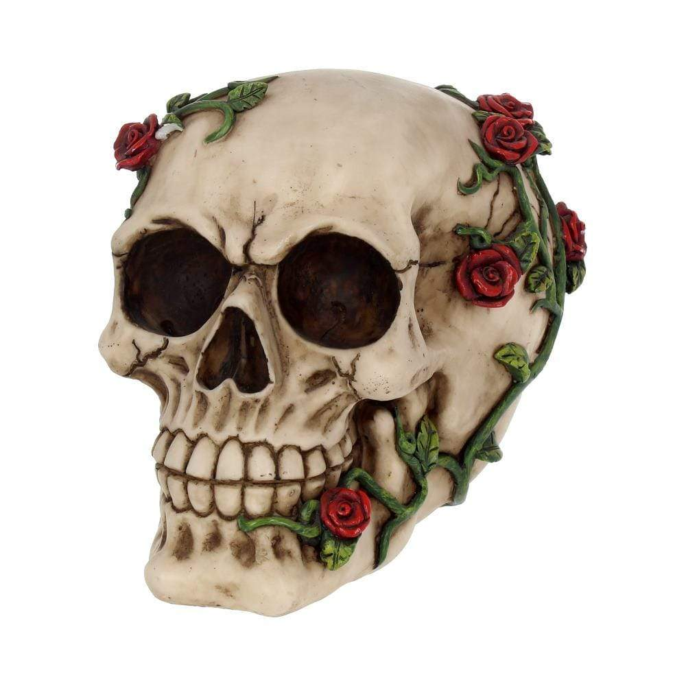 Rose From Beyond 15cm Skull Figurine Medium