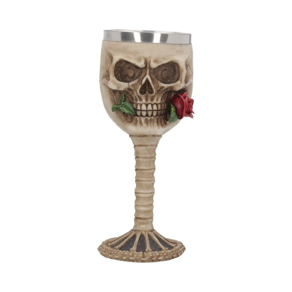 Rose From The Dead Goblet 18.5cm Skull Goblet