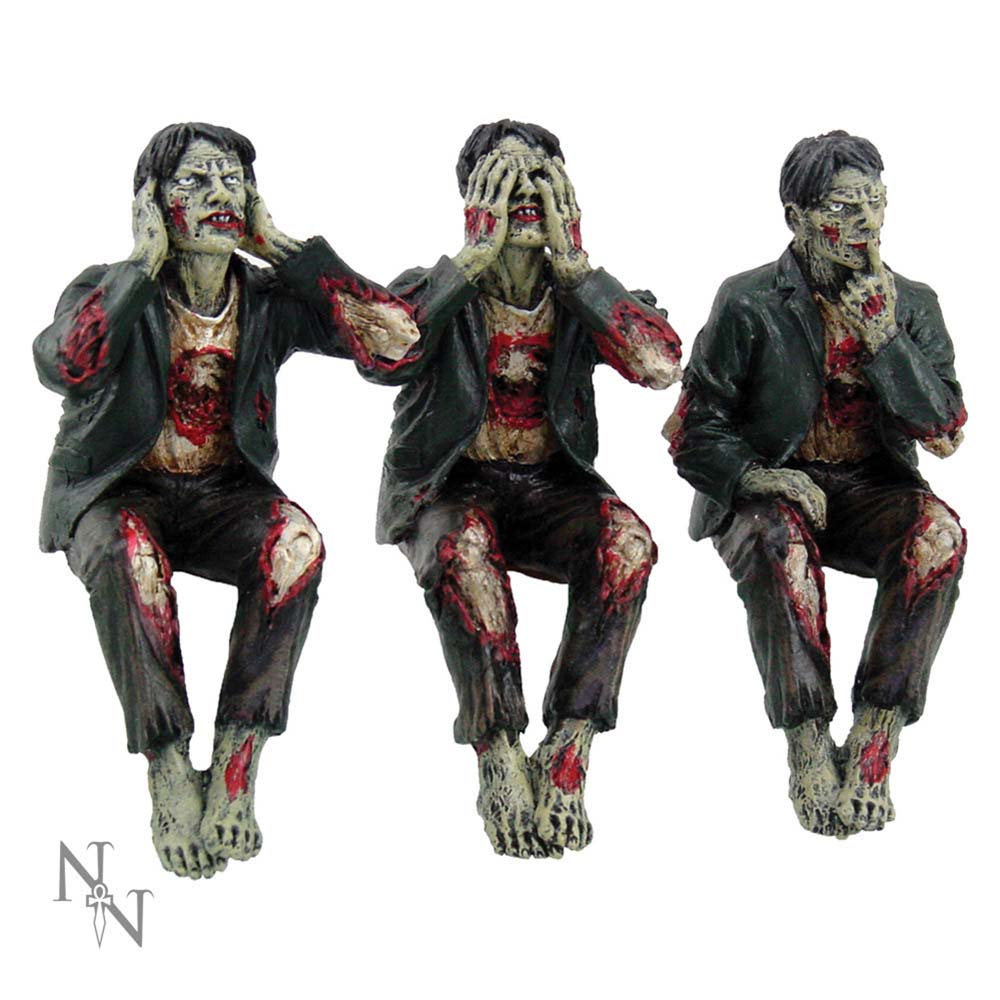See No, Hear No Speak No Evil Zombies 10cm Zombie See No Hear No Speak No