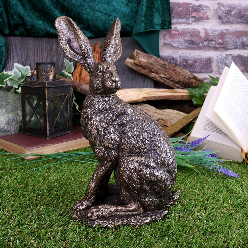 Sit Tight 23.5cm Hares Figurine Medium